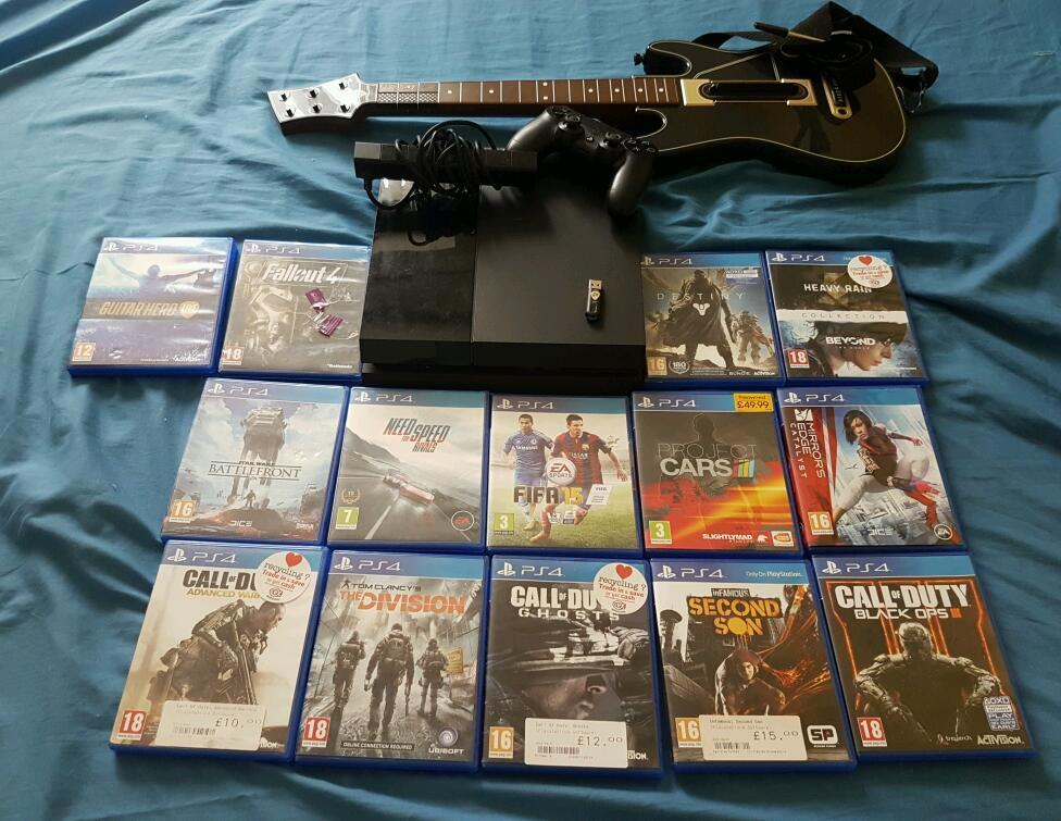 PS4 with games + Astro A50 Headset