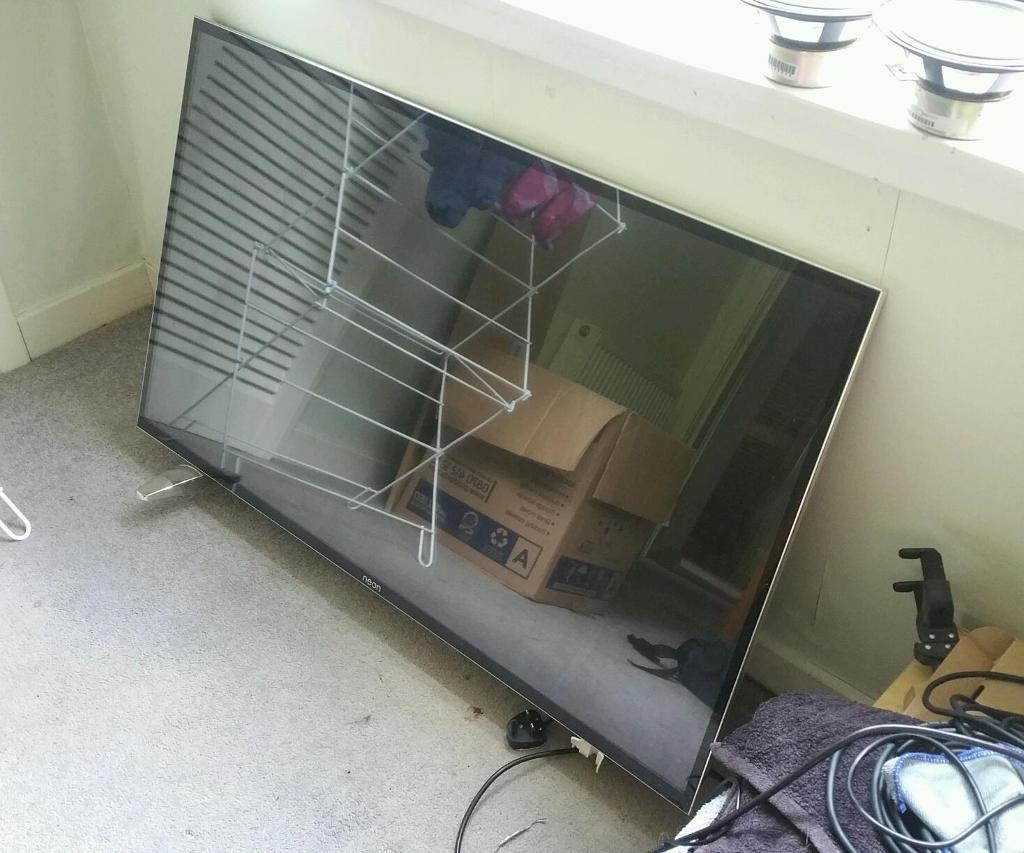 """Neon 50 """" inch led TV ultra thin faulty no picture"""
