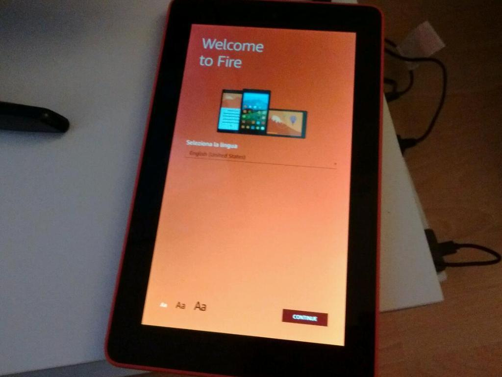 "Fire Tablet, 7"" Display, Wi-Fi, 8 GB (Orange)"