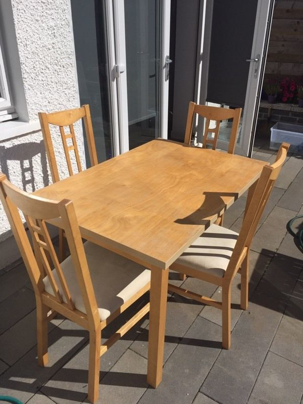 IKEA table and 4 matching chairs.
