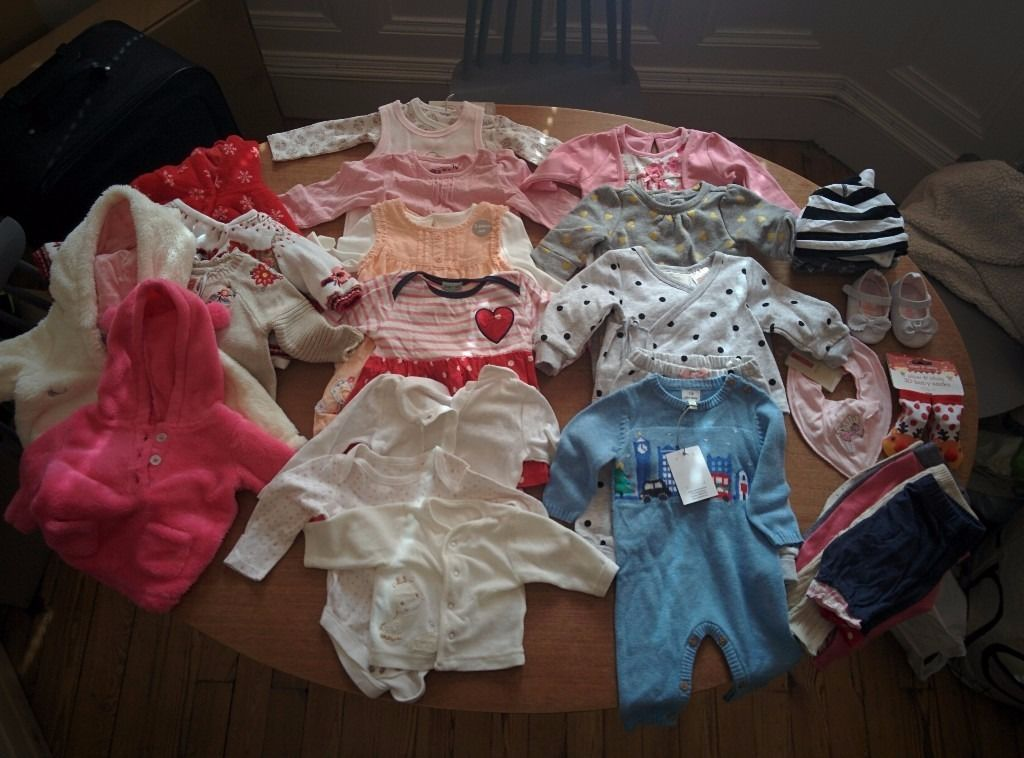 Baby Girls Clothes (mainly 0-3 months)