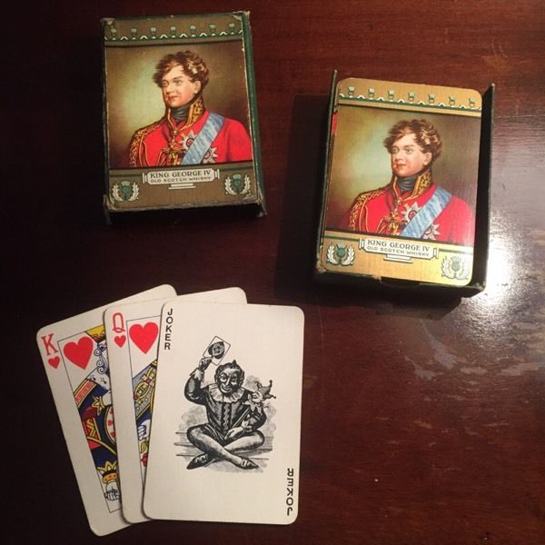 George IV Whiskey Playing Cards