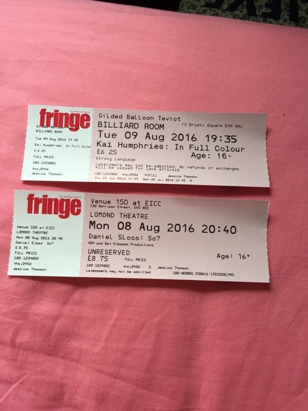 Edinburgh Fringe Festival Tickets