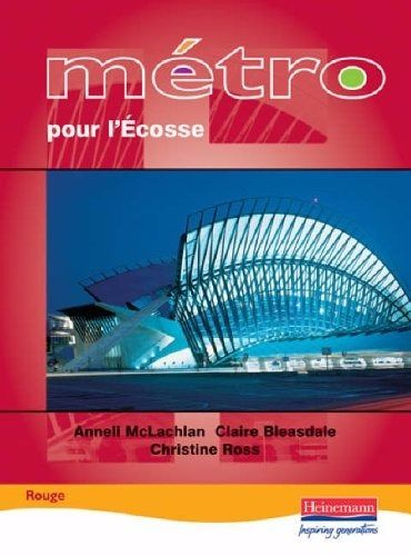 Metro Pour L'Ecosse Rouge Student Book (Student book)