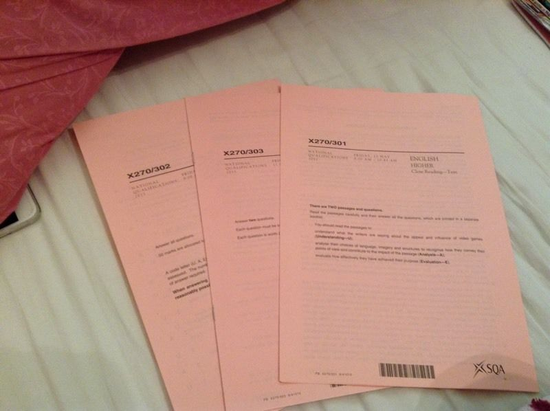 Official SQA Higher English past papers