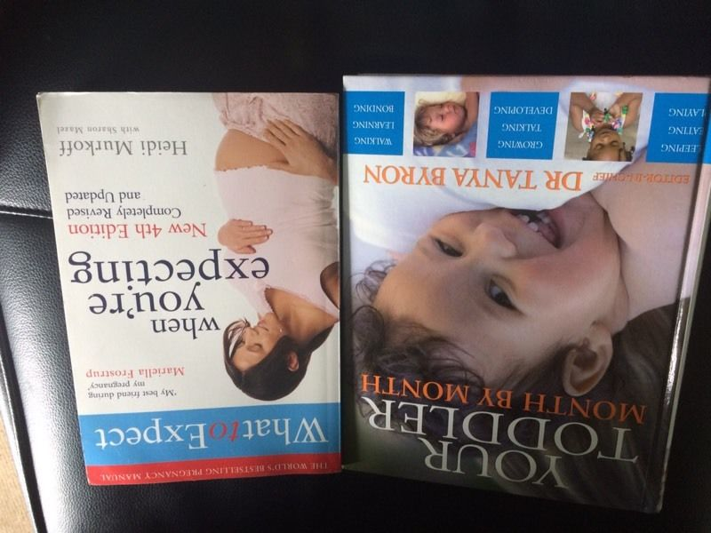 Pregnancy and baby&toddler development books