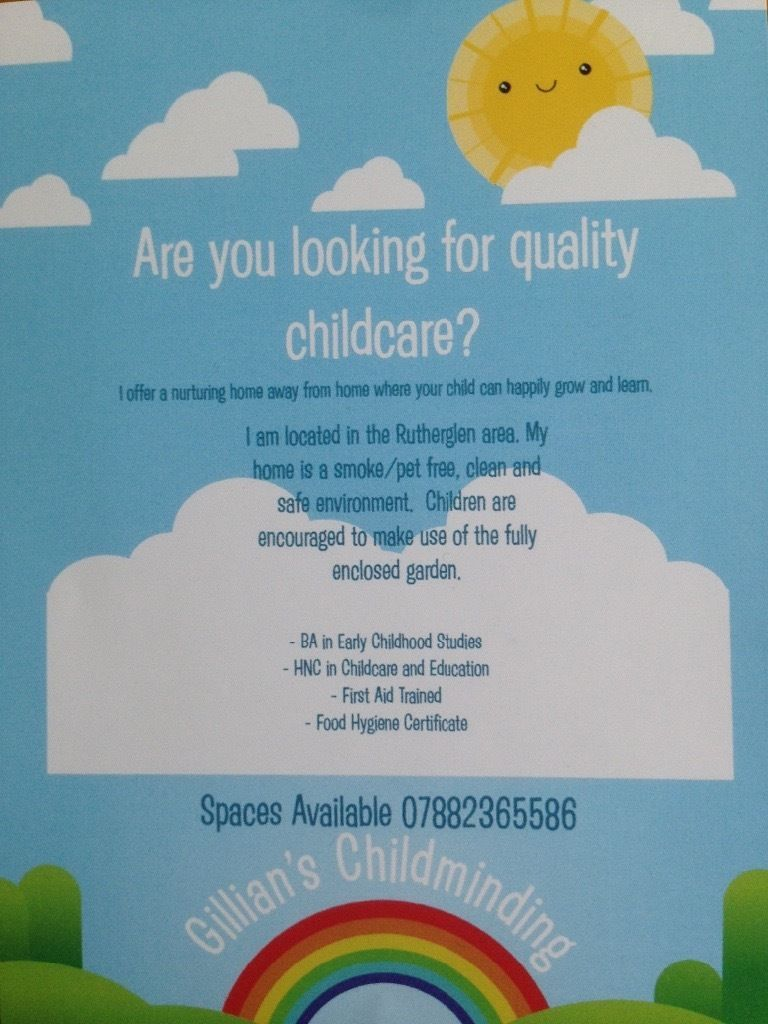 Childminder in Rutherglen After School Spaces