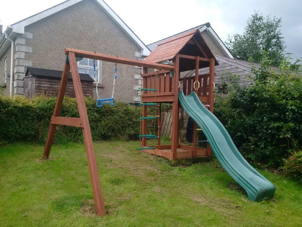 Now SOLD - Jungle Gym Cabin with Double Swing