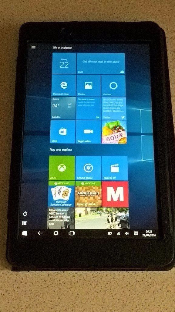 Linx 8 inch Tablet Like New Windows 10