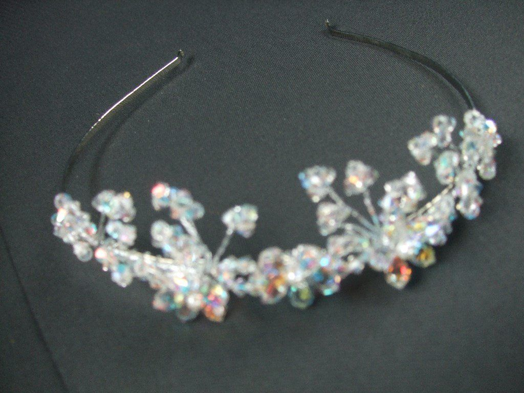 Beautiful crystal wedding tiara.