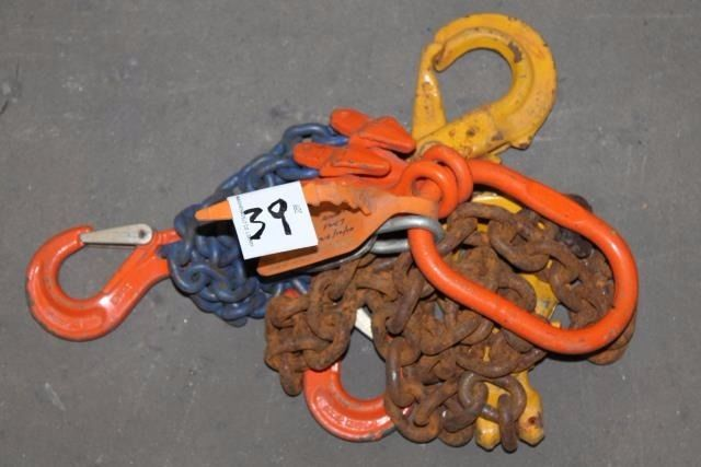 LARGE SELECTION OF LIFTING CHAINS