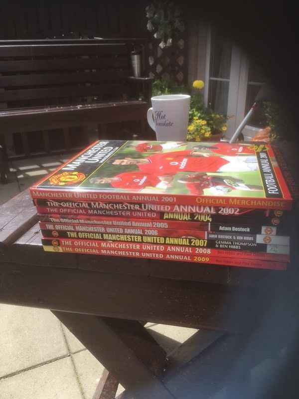 Manchester United football annuals