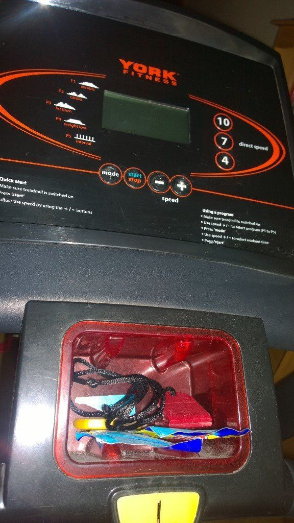 Electric York Treadmill in excellent condition has lots of different features