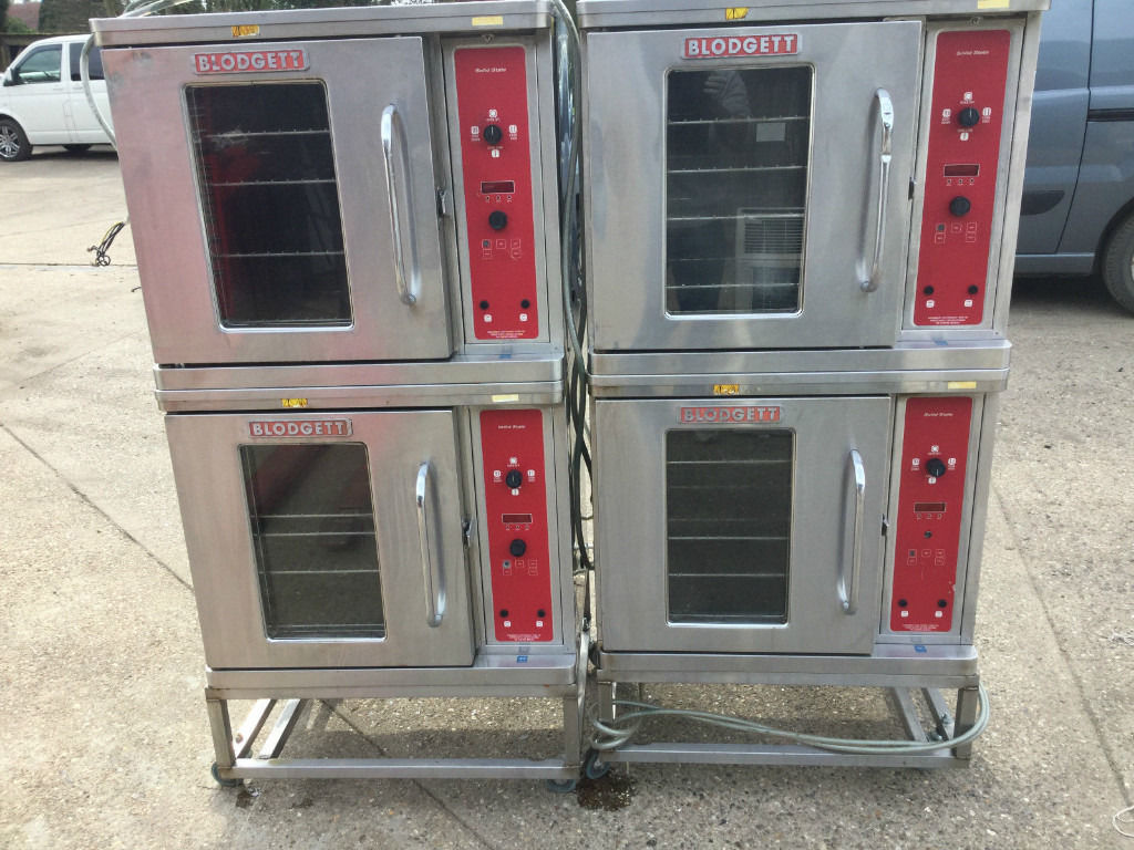 BAKERY ELECTRIC COVECTION OVEN BLODGETT DOUBLE DECK JOB LOT X 2