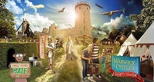 4x Warwick castle tickets 13/08/16 Saturday
