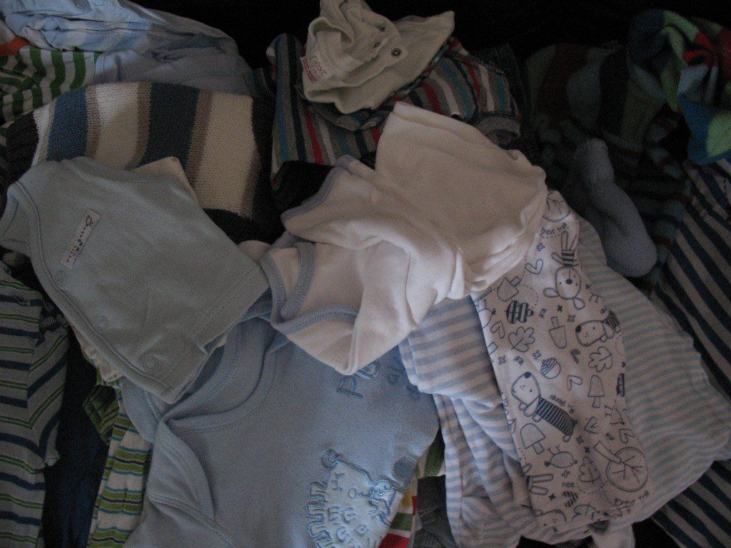 Bag of 1 month + baby boy clothes