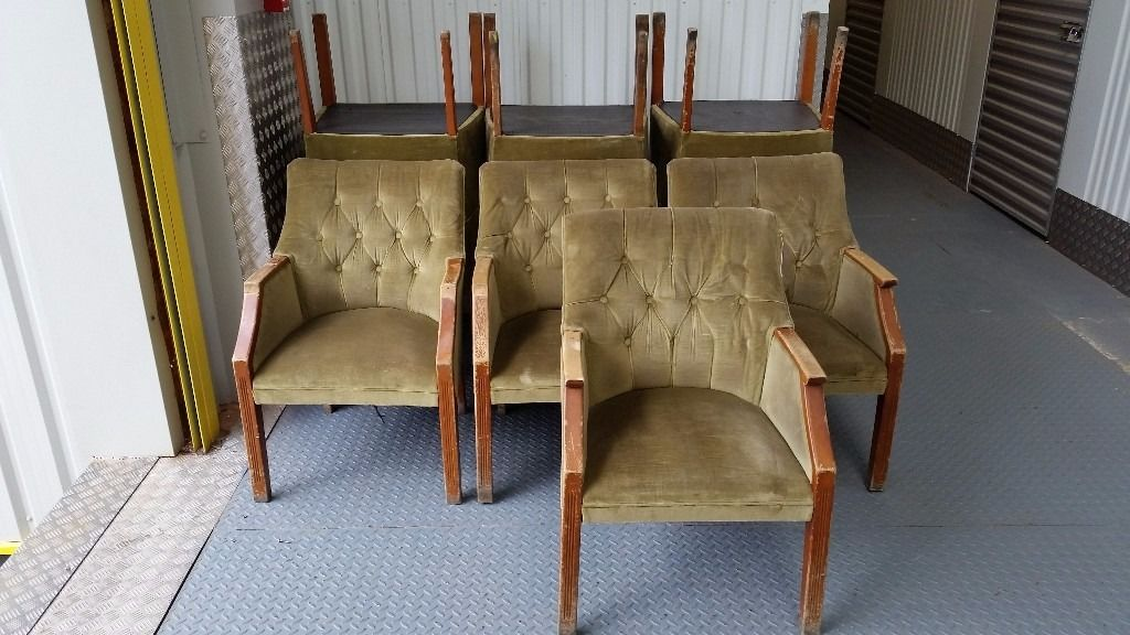 11 No. Upholstered tub / armchairs -FREE