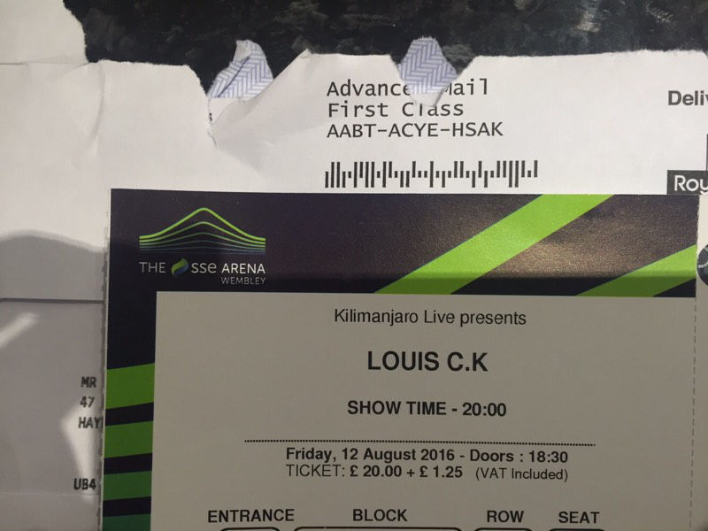 Louis.C.K tickets Wembley