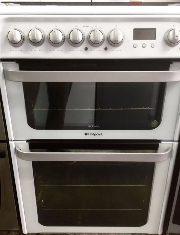 //(%)\ HOTPOINT DUAL FUEL COOKER INCLUDES 1 YEAR GUARANTEE