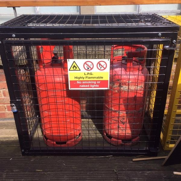 Gas safety cage