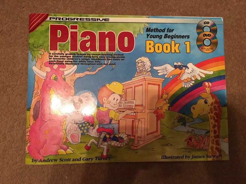 Beginner piano and recorder books