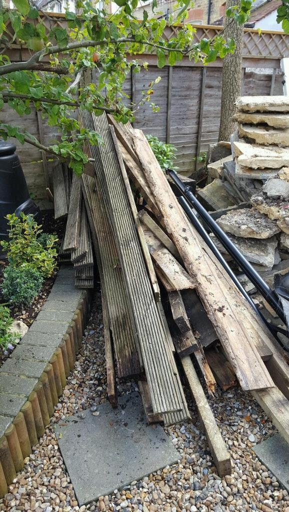 Used decking boards and timber joists - FREE