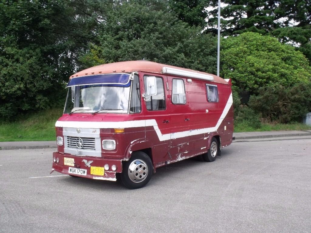 1980 Mercedes 608d Motorhome/ live in van/ Camper project