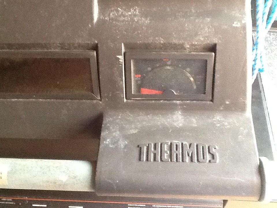 Themos gas barbecue just needs cleaning up. Gas cylinder as well.