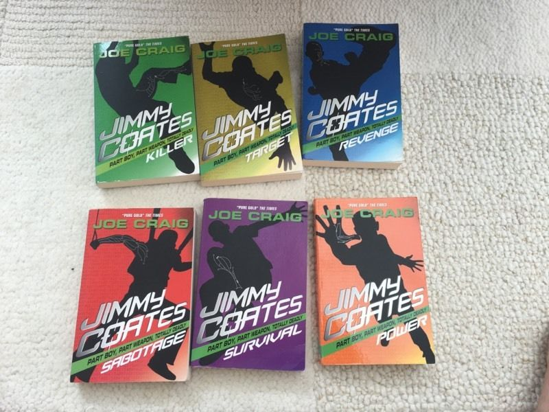 Joe Craig 'Jimmy Coates' books 1-6/8 seirs