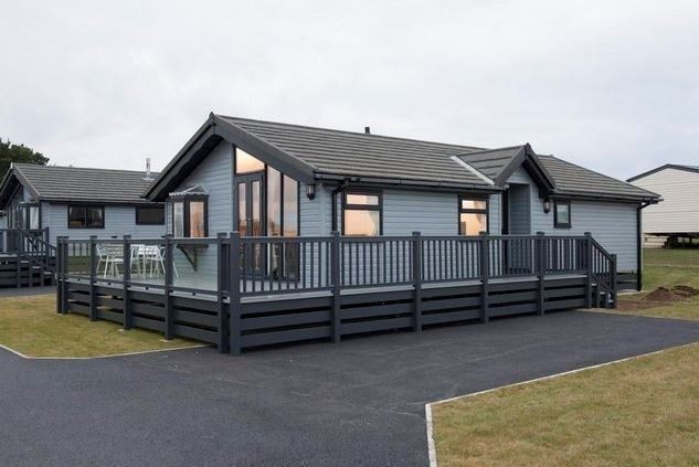 TIMBER CLAD LUXURY LODGE 35x20 WITH GLASS DECKING AT SOUTHERNESS HOLIDAY PARK, FINANCE OPTIONS!!