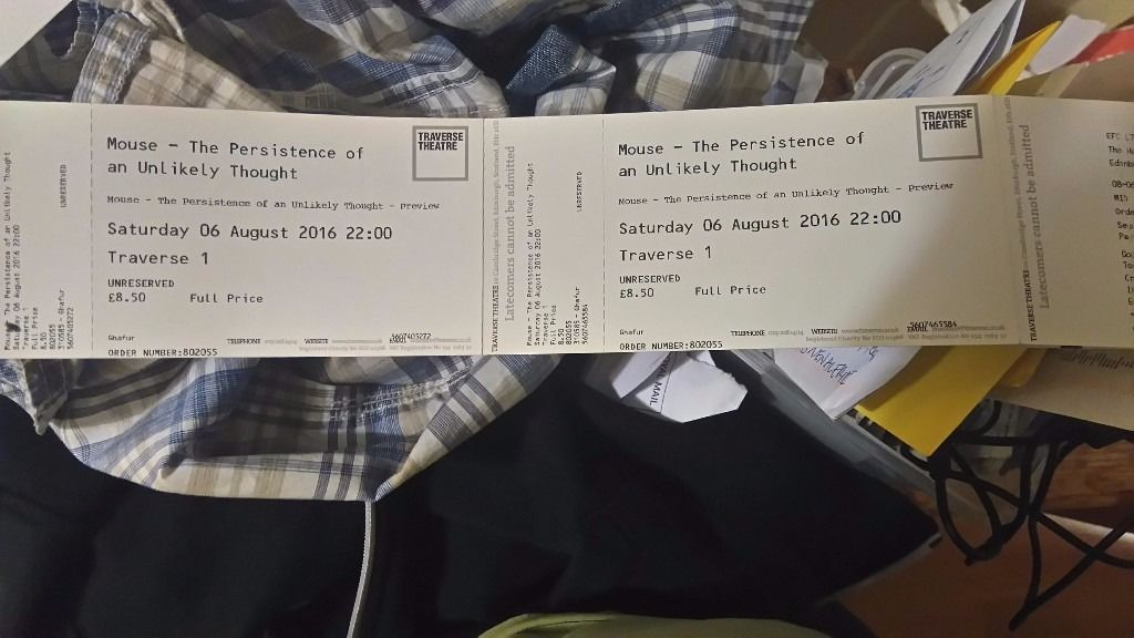 2 Tickets, Sat 6th Aug, Daniel Kitson:The Persistence of an Unlikely Thought: Traverse
