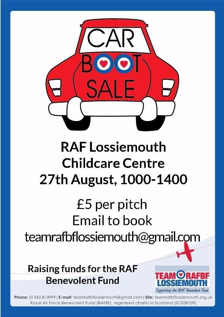 Charity Carboot Sale for the RAF Benevolent Fund