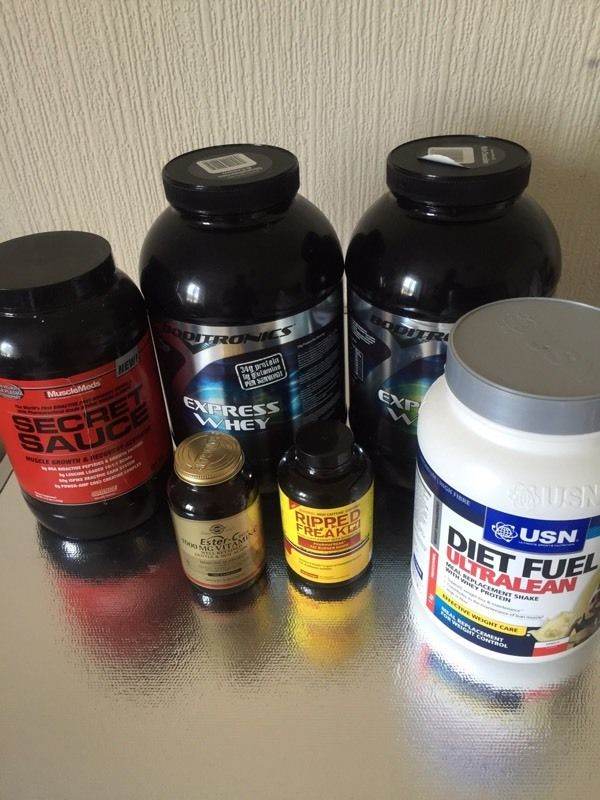 Used supplements stack