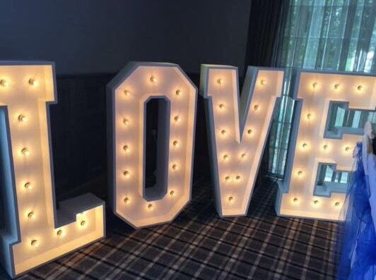 Large Light Up LOVE LETTERS - Weddings