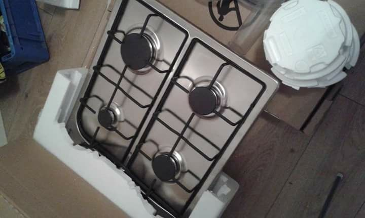 brand new in box hoover silver gas hob