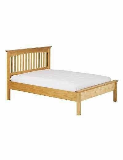 Hastings natural single bed frame with memory foam mattress