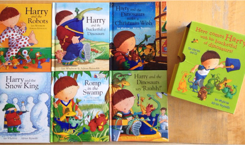 Harry and the bucket of dinosaurs book set
