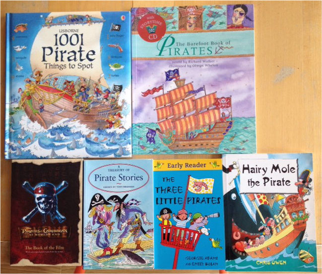 Mixed piratey books