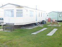 Static caravan at Greenacrees Porthmadog Haven site