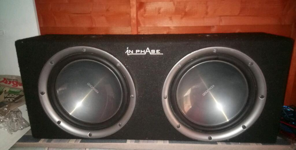 Twin kenwood sub in a in phase box