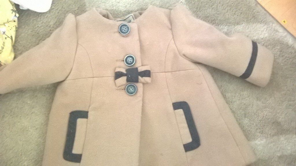 two baby girl winter warmers 9-12m