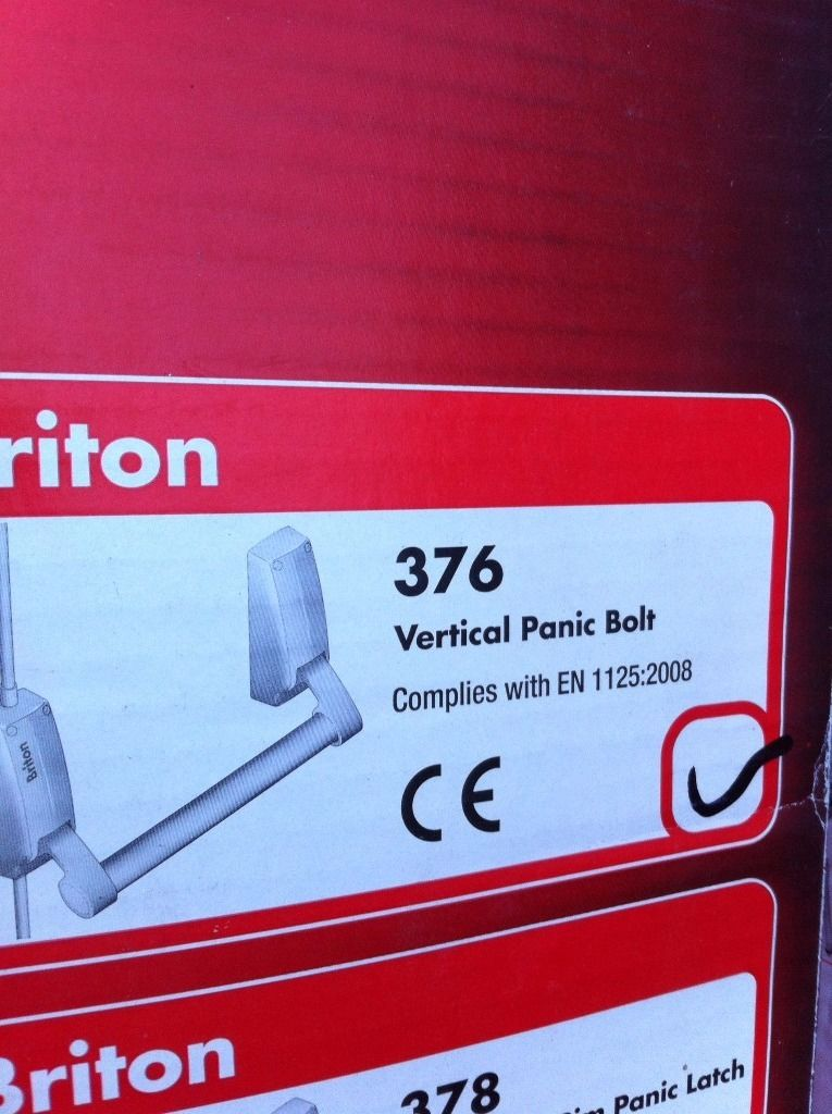 BRITON PANIC LATCHES AND VERTICAL PANIC BOLT , DOOR CLOSERS, ALL NEW