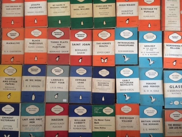 102 Vintage Penguin and Pelican Books, perfect for Wedding Place Settings