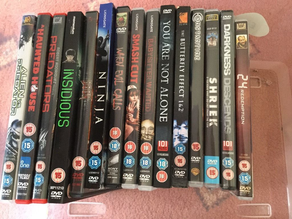 Selection of horror DVD's