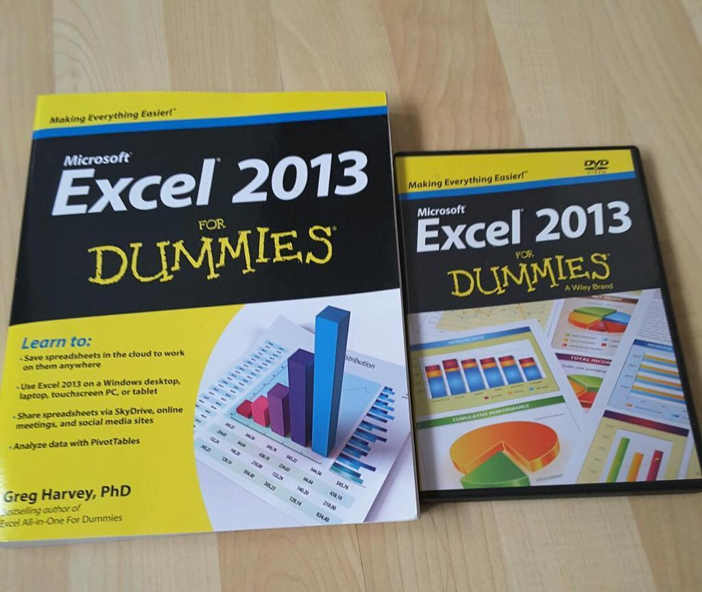 Office 2010 & Excel 2013 for Dummies book with DVD
