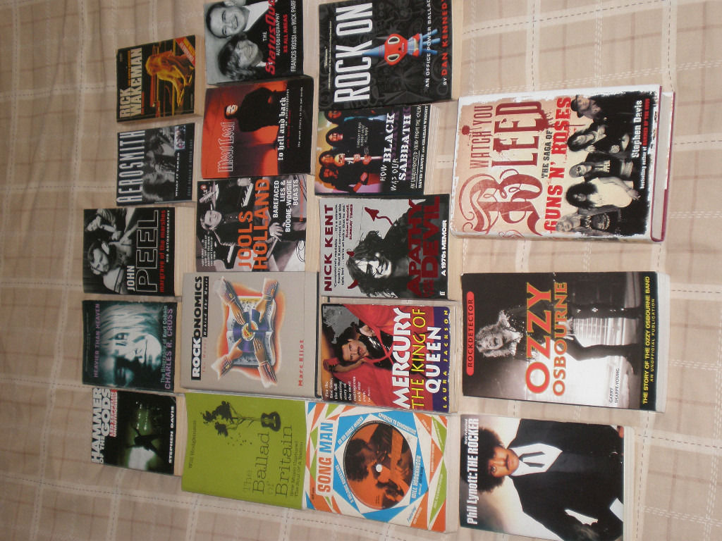 Music books - biographies of bands, solo artists etc
