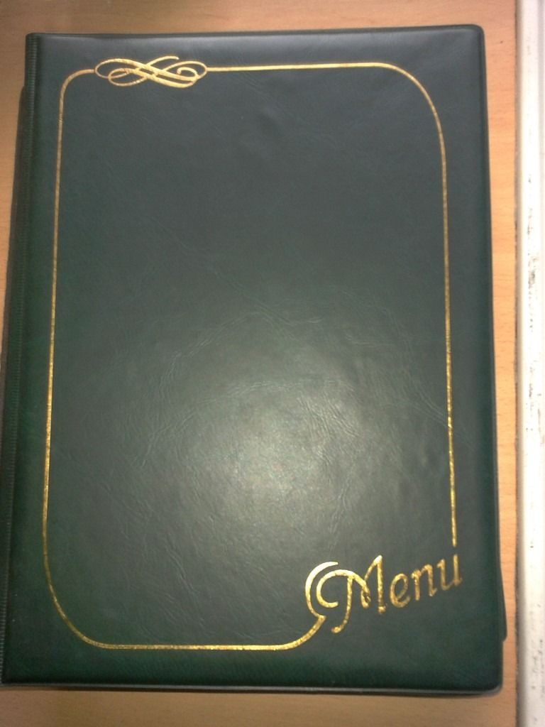 NEW A4 RESTAURANT CAFE MENU COVER FOLDER IN LEATHER LOOK PVC