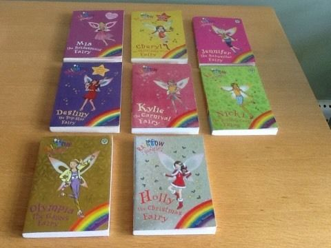 8 x Rainbow Fairys Books by Daisy Meadows