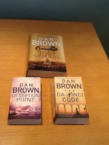 3 x Dan Brown Books