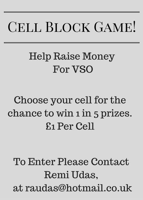 Cell Block Game For Voluntary Service Overseas